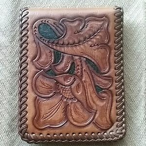 Handmade Tooled Leather Wallet